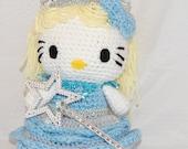 Hello Kitty Doll - Hello Kitty Glinda Crocheted with Tiara and Wand