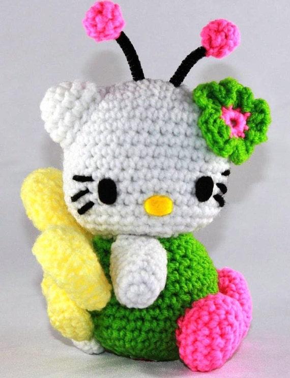 Crochet Pattern Minnie Mouse Doll : Items similar to Hello Kitty Doll- Hello Kitty Bright ...