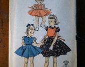 Vintage Sewing Pattern - Girls Dress - 1950s - PRICE REDUCED