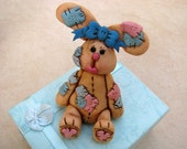 patchwork bunny cake topper