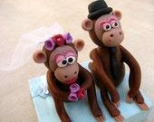 monkeys wedding cake topper