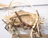 Custom Orders only:  Manger,Christ child- rustic creche-Christmas ornament