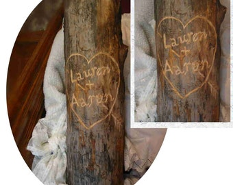 Custom Wood Engraving (or Burning) for Wedding or Party Features, Special Gifts, Etc.