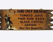 Vintage Wood Novelty Bar Sign