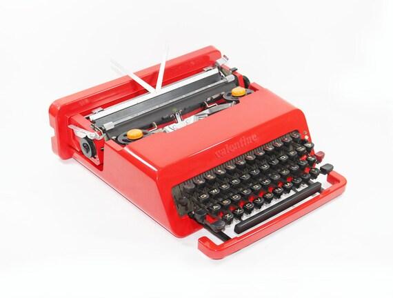 Bright Red Olivetti Valentine Manual Typewriter