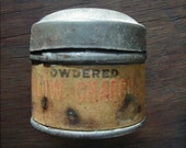 Antique Tin of Powdered Willow Charcoal