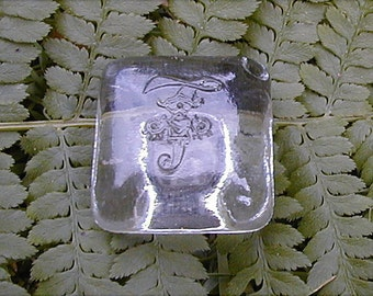 Impressed Square Glass Perfume Stopper