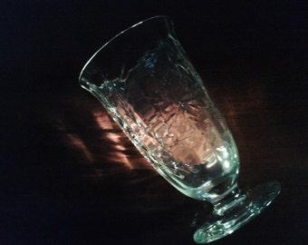 Glastonbury Lotus Cut Crystal Footed Tumbler