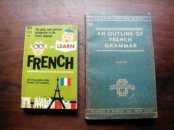 outline of french grammar and look and learn french 2 books. Black Bedroom Furniture Sets. Home Design Ideas