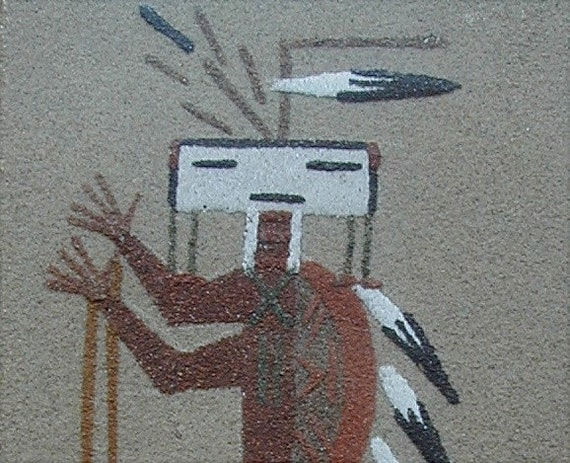 how to clean navajo sand painting