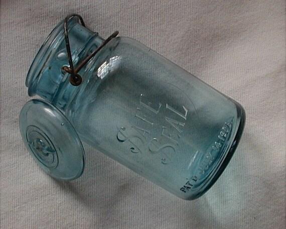 Safe Seal Glass Canning Jar 1908