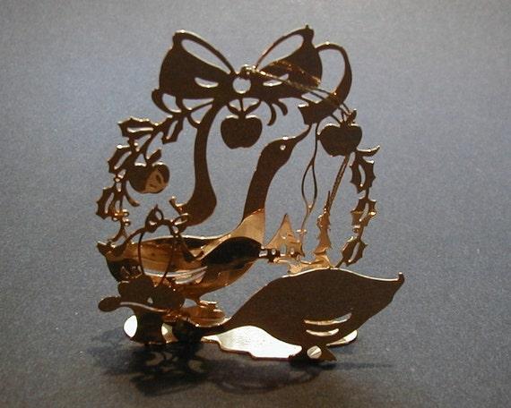 Brass christmas ornament lunt usa
