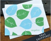 Big Leaves - Personalized Stationery