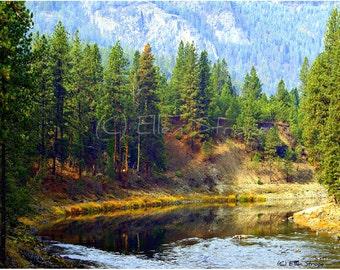 PHOTO Fine Art Note Card, Beautiful Northwest River, Blank Note Card