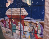 Embroidered Nativity Scene Wall Hanging