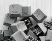 10 Light Gray Tall Keyboard Keys