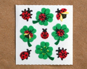 Sandylion Ladybugs & Clovers Fuzzy Stickers