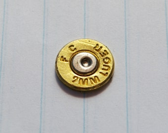 FC 9mm Luger Brass Bullet Cabochon