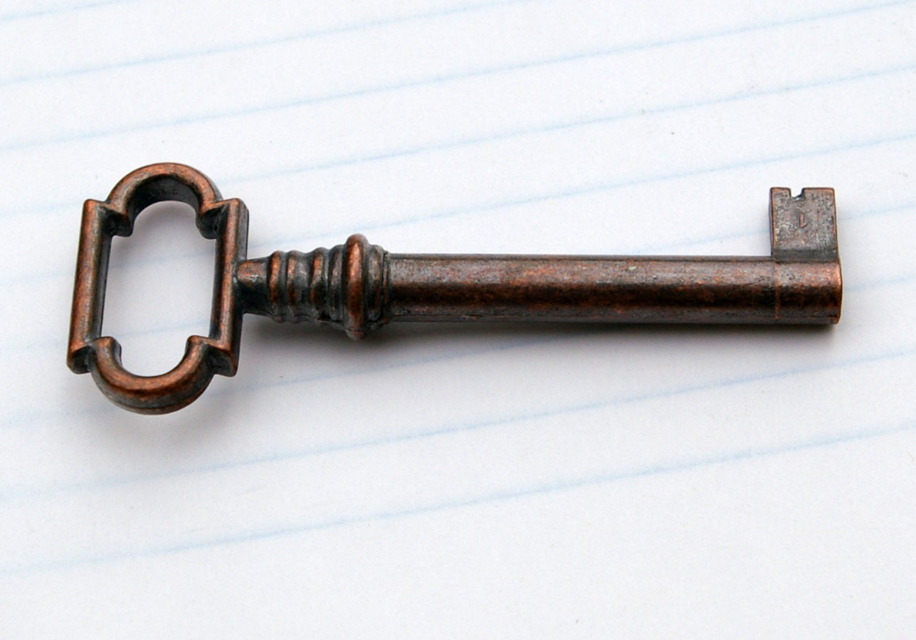 Art Deco Copper Skeleton Key