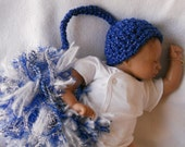 SUPER SALE  Preemie Oddball Baby elf  Beanine Patriotic Collection4 with HUGE pompom photo prop Ready2Ship
