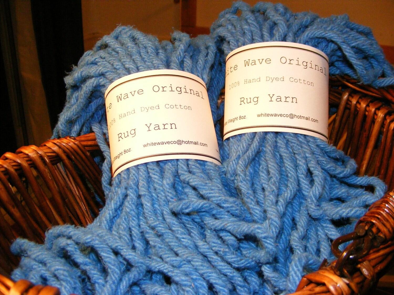 Cotton Rug Yarn Blue