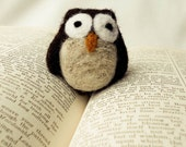 Needle Felted Henry the Hoot Owl Wooly Handmade (1)