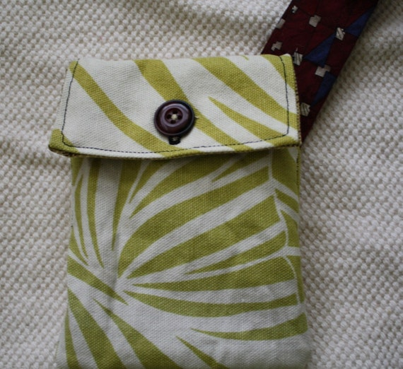 Cell Phone Case, Men's tie wristlet, purse, wallet, camera case- Eco Friendly, Upcycled