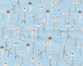 LAST ONE - Heather Ross, Far Far Away III, Wildflowers in Blue - 4/9 Yard