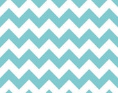 Riley Blake, Chevron Stripe in Aqua - Half Yard of Fabric