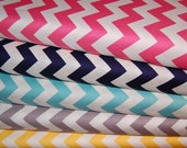 RESERVED LISTING FOR michellej0331 Riley Blake, Chevron Stripe Fabric - One Yard Bundle of 5