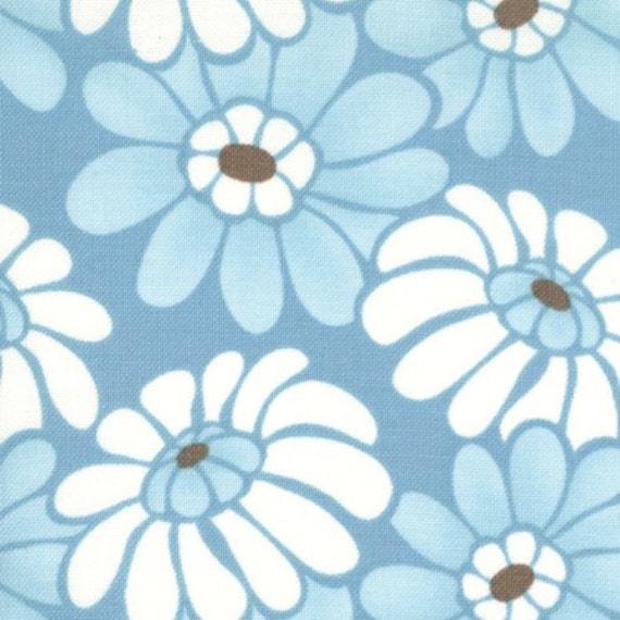 "LAST ONE - Fabric Sale - Kate Spain, Central Park, Seneca in Reservoir - 15"" Fabric Remanat"