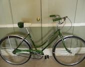 Vintage Bicycle, Schwinn, Ladies, 3 Speed  Bike, Green