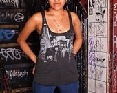 Pigeon be Pigeon - NYC Skyline Print - Racer back Tank