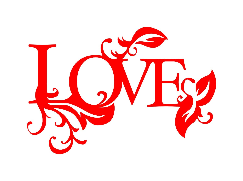 Love word art decals for Love design