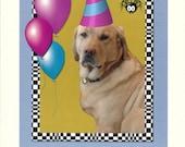 Photographic Greeting Card-Yellow Lab Birthday