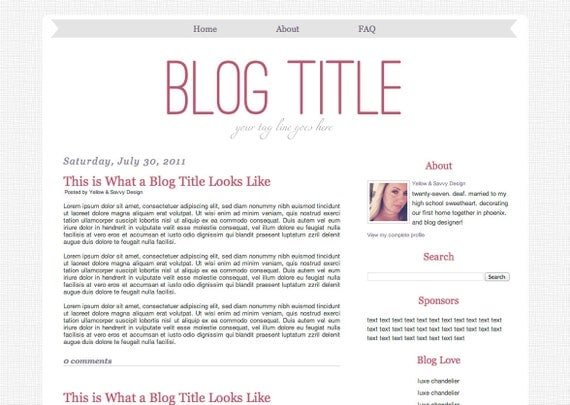 Items similar to Simple Fever - 2 Column Blogger Template ...