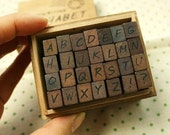 SALES SP-AHC1 / Antique Hand Writing Alphabet Rubber Stamp-Capital Letter(Upper Case)