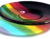 Rainbow and Black Dish
