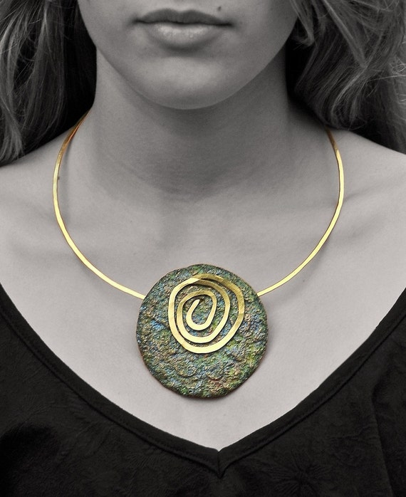 Paper jewelry - Dreamy green Necklace