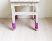 16 Pink Chair Socks Chair Cozy Chair Leg Warmers Handknit Pure New Wool freeshippingfrance team trade on