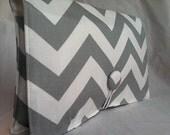 Boutique Diaper Wipe Clutch- Grey Chevron-  Organize your Diaper Bag