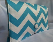Diaper Wipe Clutch- Blue Chevron- ZigZag  Organize your Diaper Bag