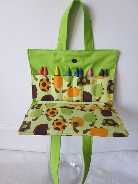 Crayon Tote-       Christmas Gift- Stocking Stuffer