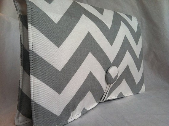 Boutique Diaper Wipe Clutch- Grey Chevron-  Organize your Diaper Bag