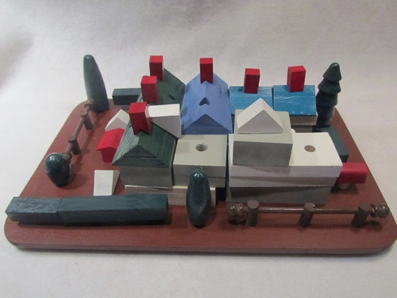 129 piece iinterchangeable village