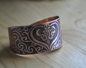 Etched Copper Cuff with Horses