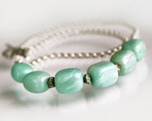 Blue Necklace - Aqua Necklace - Simple - Chain - Amazonite - Beaded