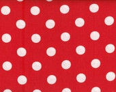 Red with White Dots Quilting Fabric  2 Yards - LindaRaesTreasures