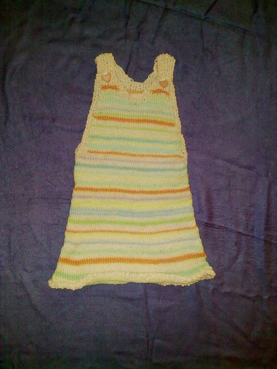 On sale: Hand knitted baby girl dress
