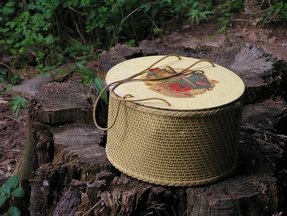 Reserved - Vintage Wicker Sewing Basket and Vintage Sewing Notions